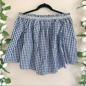 Madewell Tops - Madewell Smocked Gingham Off Shoulder Top